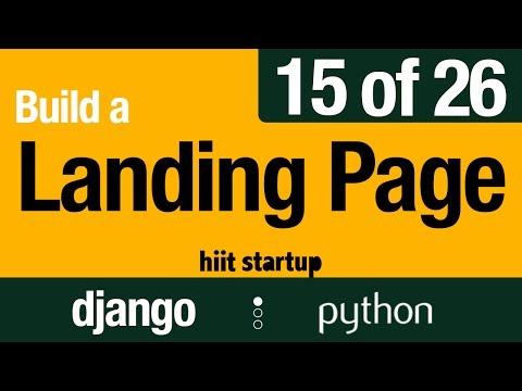 15 of 26 |  Landing Page Layouts | Hiit Startup | Django Tutorial