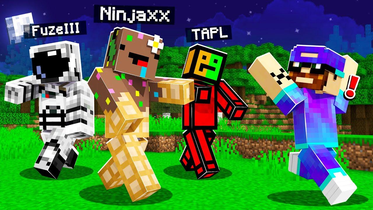 Minecraft MAIS tous les mobs sont des Youtubeurs !