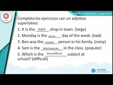 20 oraciones de comparativos y superlativos en ingles