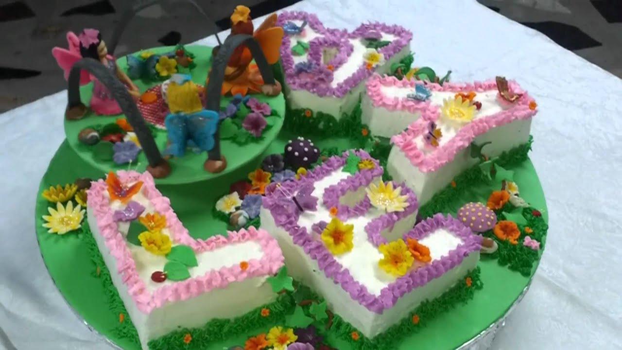 Fairy Garden cake - YouTube