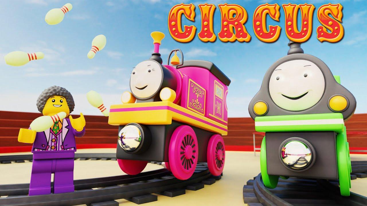 Lego and The Railway Circus - TRAIN Circus cartoon Movie - choo choo train kids videos