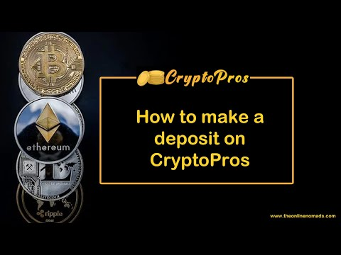 How to make a deposit on CryptoPros