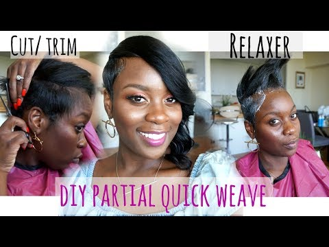 Shaved Side Quickweave For Undercuts Youtube