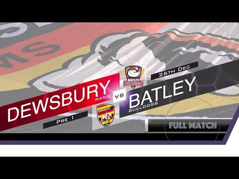 Full Game Dewsbury Rams Vs Batley Bulldogs 26 December 2019