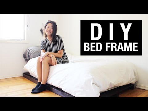 DIY: Twin Bed Frame on a College Student's Budget