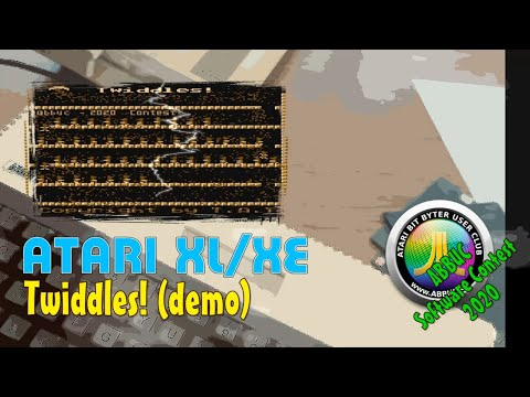 Atari XL/XE -=Twiddles!=- demo ABBUC Software Contest 2020