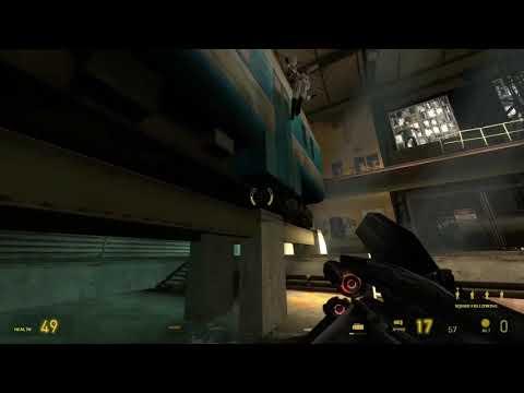 В Half-Life 2 и ее эпизодах доступен бег по стенам
