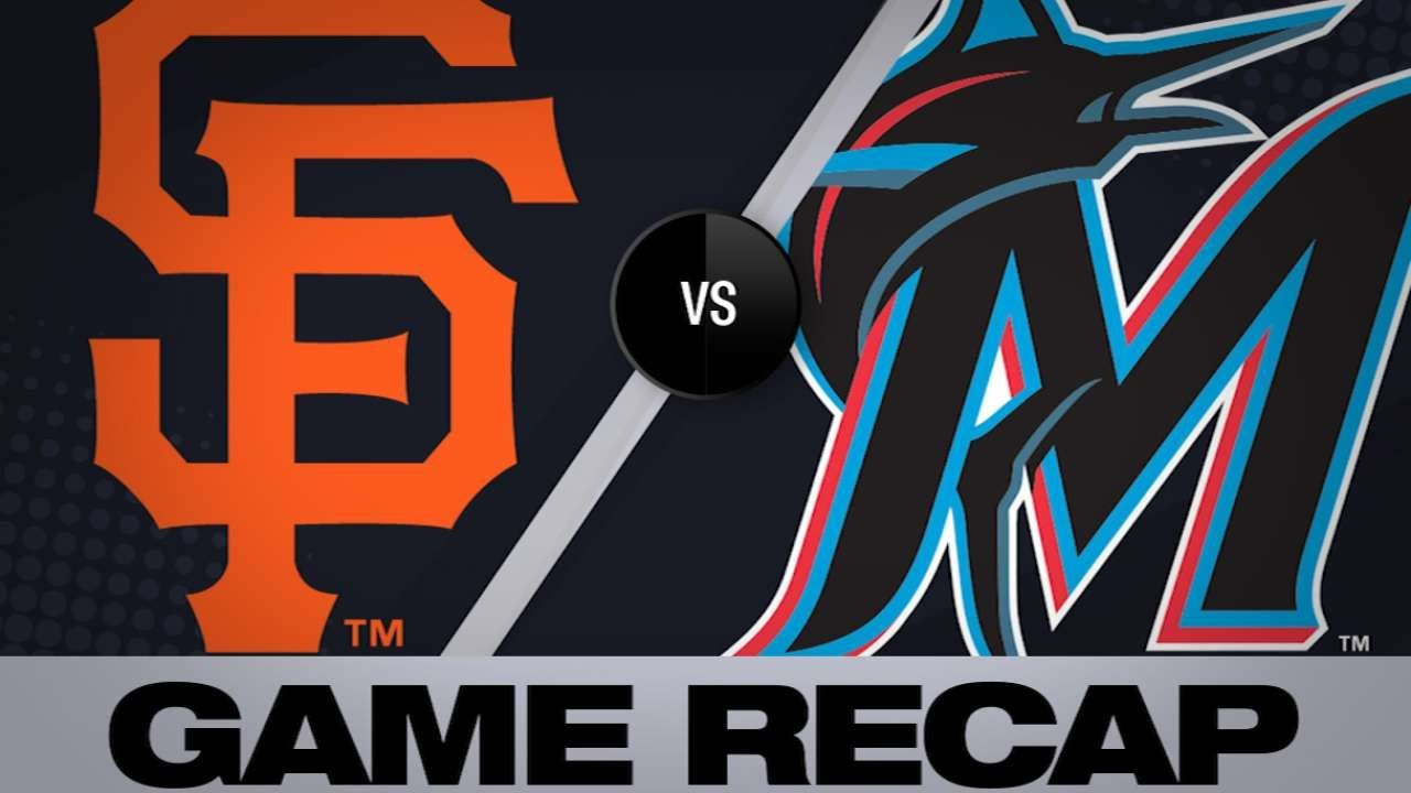 5/30/19: Crawford's double helps Giants top Marlins