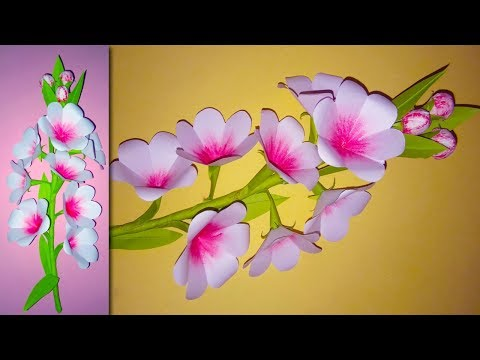 DIY:: How to Make Flower Stick by Paper | Easy Paper Flowers Craft