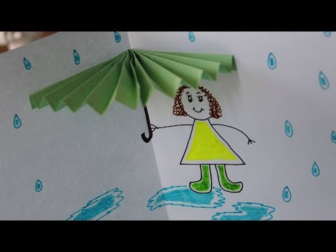 DIY: 3D Umbrella Card | Origami Umbrella | Paper Crafts for Kids