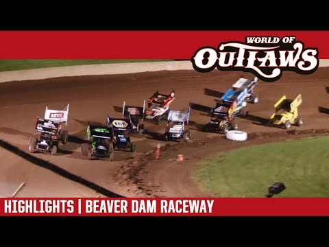 World of Outlaws Craftsman Sprint Cars Beaver Dam Raceway June 24, 2017 | HIGHLIGHTS