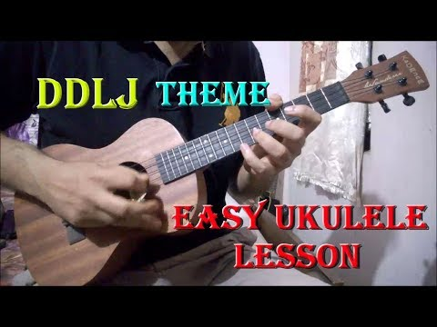 DDLJ Theme Ukulele Lesson - Super Easy For Beginners | Tujhe Dekha To Ye Jana Sanam