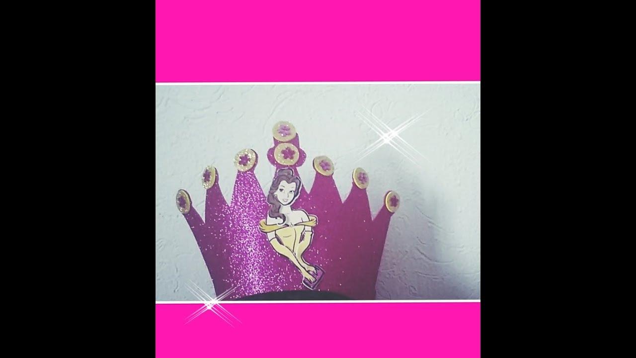 Diy Como Hacer Corona De Princesa Bella Para Niña Youtube