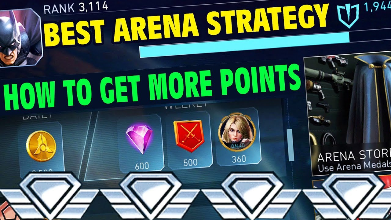 Injustice 2 Mobile 1 6  ARENA TIPS  How to Get Most Arena Points  Secret  Arena Strategy  Arena Guide