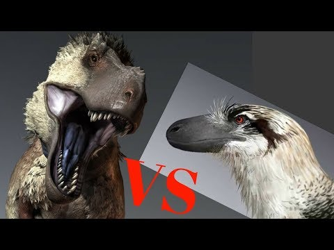 Epic Fight T Rex vs Dakotaraptor