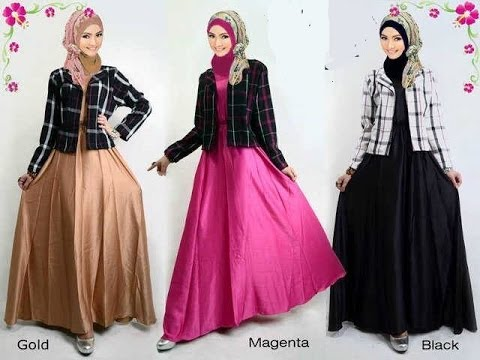 Busana muslim terbaru untuk wanita, baju kurung moden, gamis pesta, model baju terbaru - YouTube