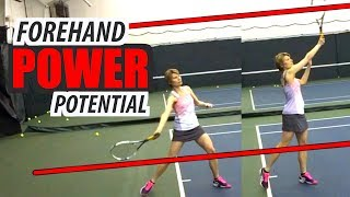 How to: Increase FOREHAND POWER Potential - tennis lesson