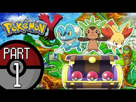 Pokemon X and Y - Part 1: The Kalos Adventure Begins!  Chespin, Fennekin, or Froakie?