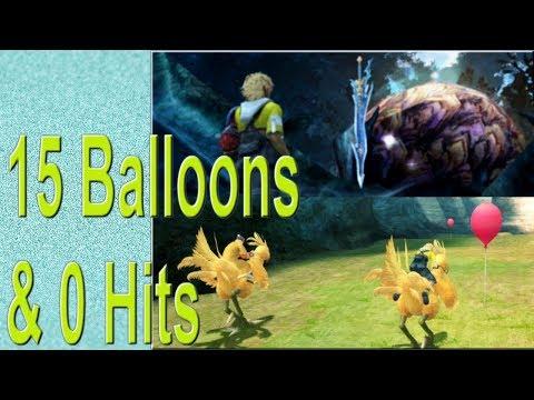 Chocobo Catcher Challenge World Record 15 Balloons & 0 Hits { Sun Sigil & Caladbolg } FFX Remastered