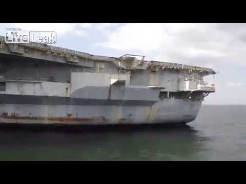 Top Gun Aircraft Carrier USS Ranger on the way to its death