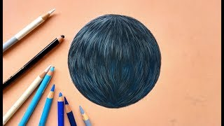 EASY way to draw black fur with pastel pencils   Leontine van Vliet