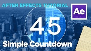 After Effects Tutorial - Simple Compte À Rebours