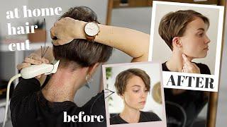 How I CUT MY HAIR Myself   At Home Haircut Routine