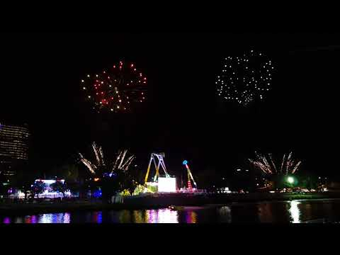 Beautiful fireworks of Moomba Festival 2018