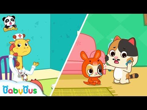 Baby Kitten Loves Jumping on the Bed   Kids Safety Tips   Baby Kitten Family   Kids Song   BabyBus
