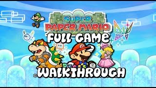 Super Paper Mario - FULL GAME - Walkthrough - No Commentary