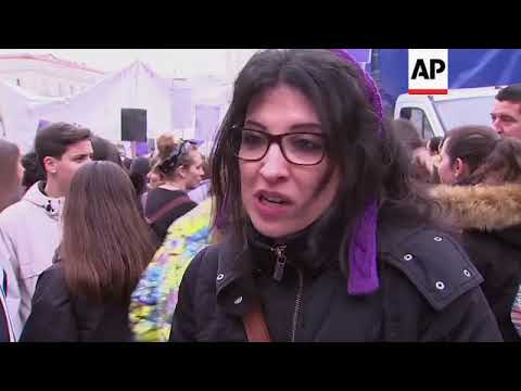 International Women's Day marked in Spain with strike and protests