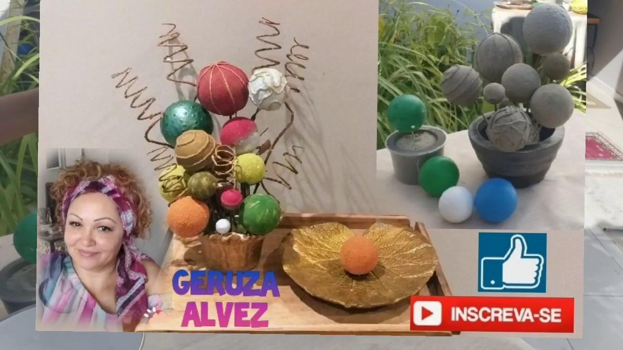 Esferas/bolas lindas e fácil de fazer