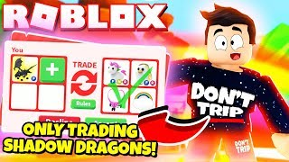I Only Traded Shadow Dragons In Adopt Me New Adopt Me Halloween Update 2019 Roblox Youtube
