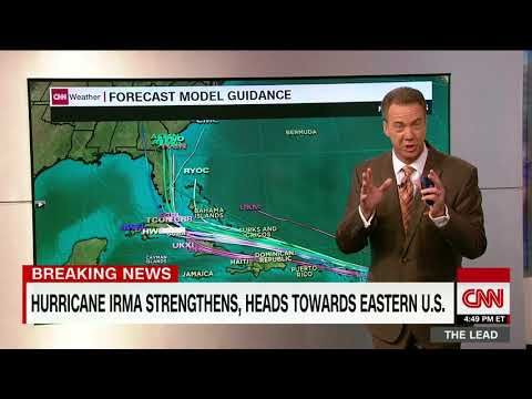 Hurricane Irma intensifies to  hurricane irma