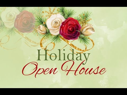 Clip Art Tutorial - Holiday Open House Invitation - YouTube