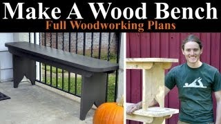 Front Porch Wooden Benches - Beginner Woodworking