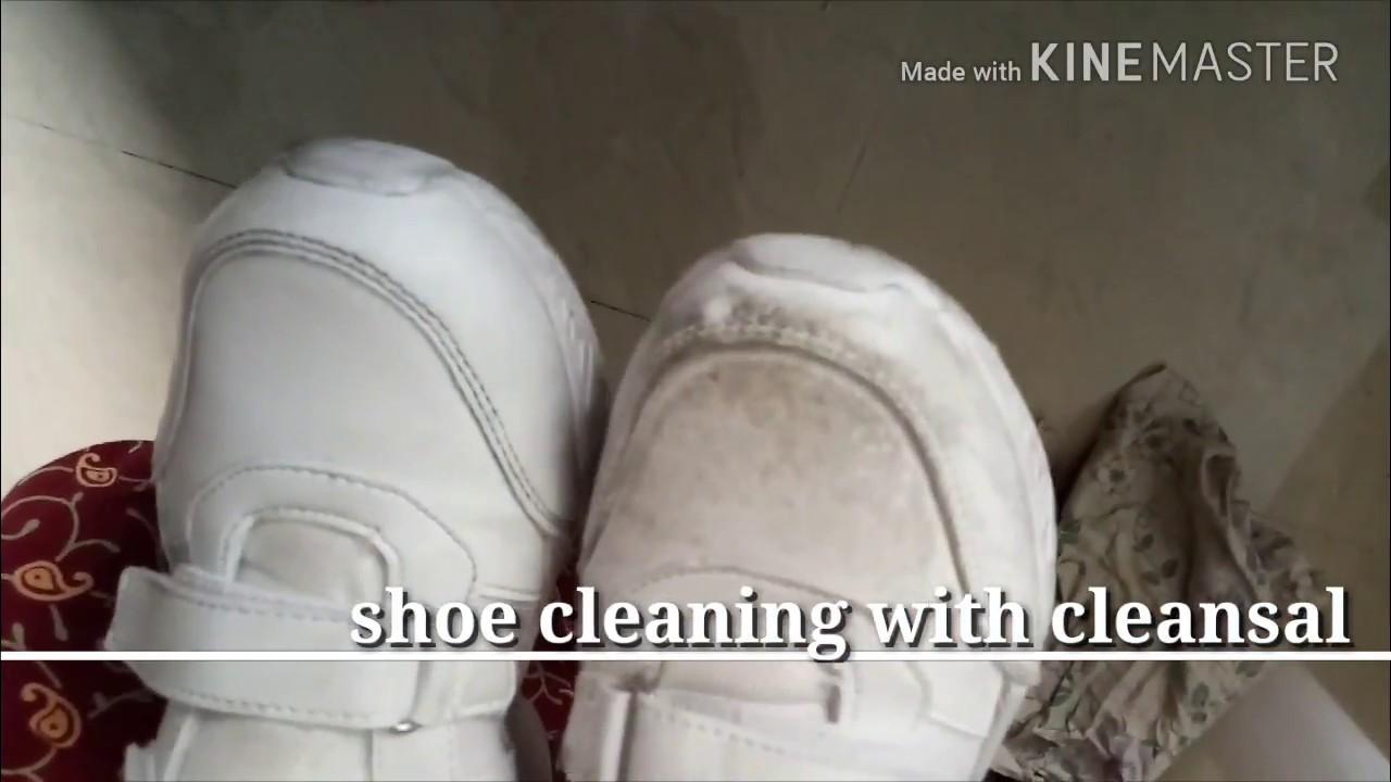school shoe cleaning// shoe polishing