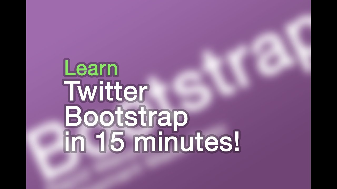 Twitter bootstrap tutorials: getting started lesson 1 youtube.