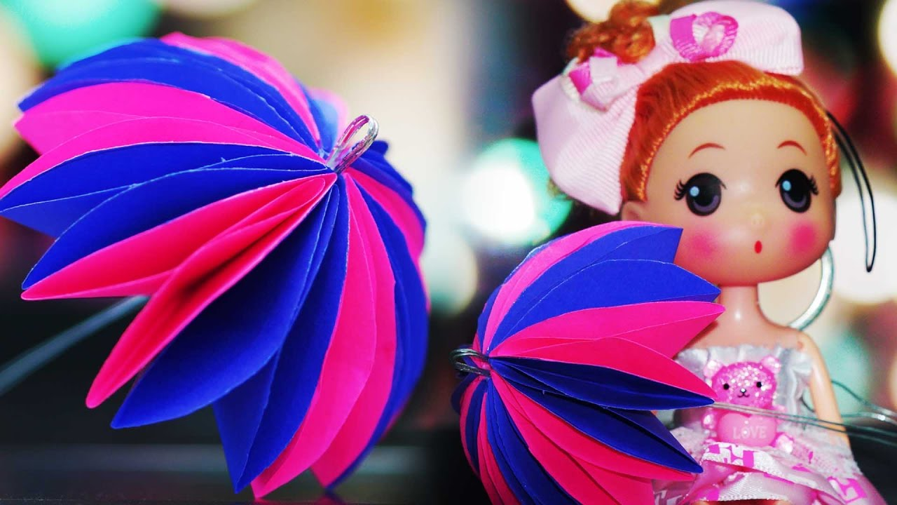 How To Make A Paper Umbrella Diy Handicrafts Youtube
