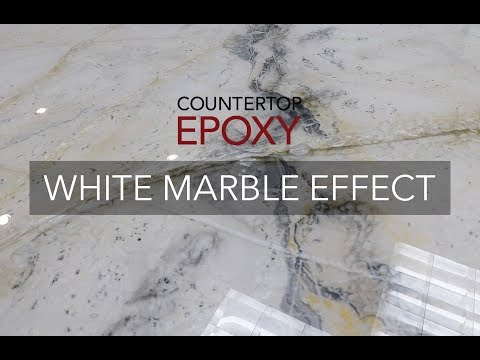 Countertop Epoxy White Marble Effect