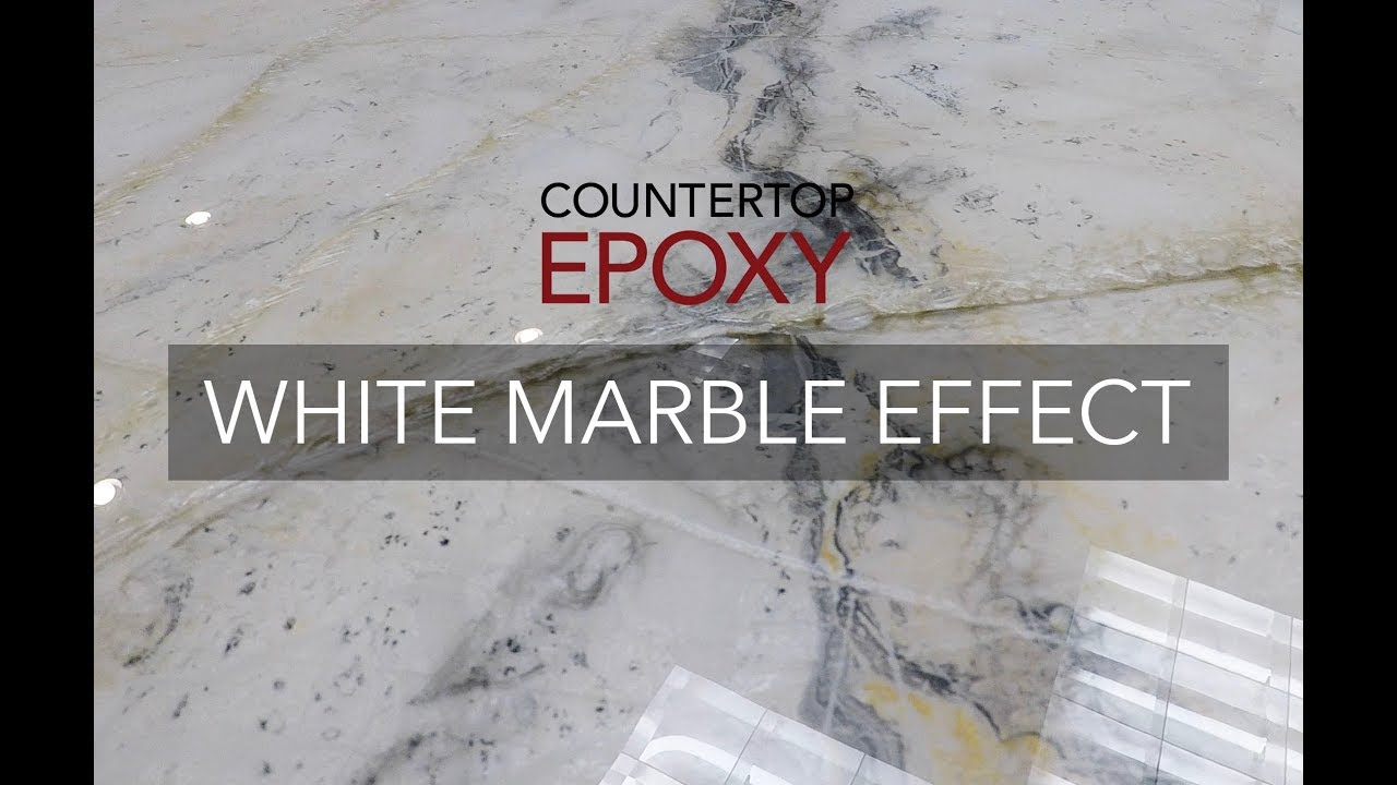 Countertop Epoxy White Marble Effect Youtube