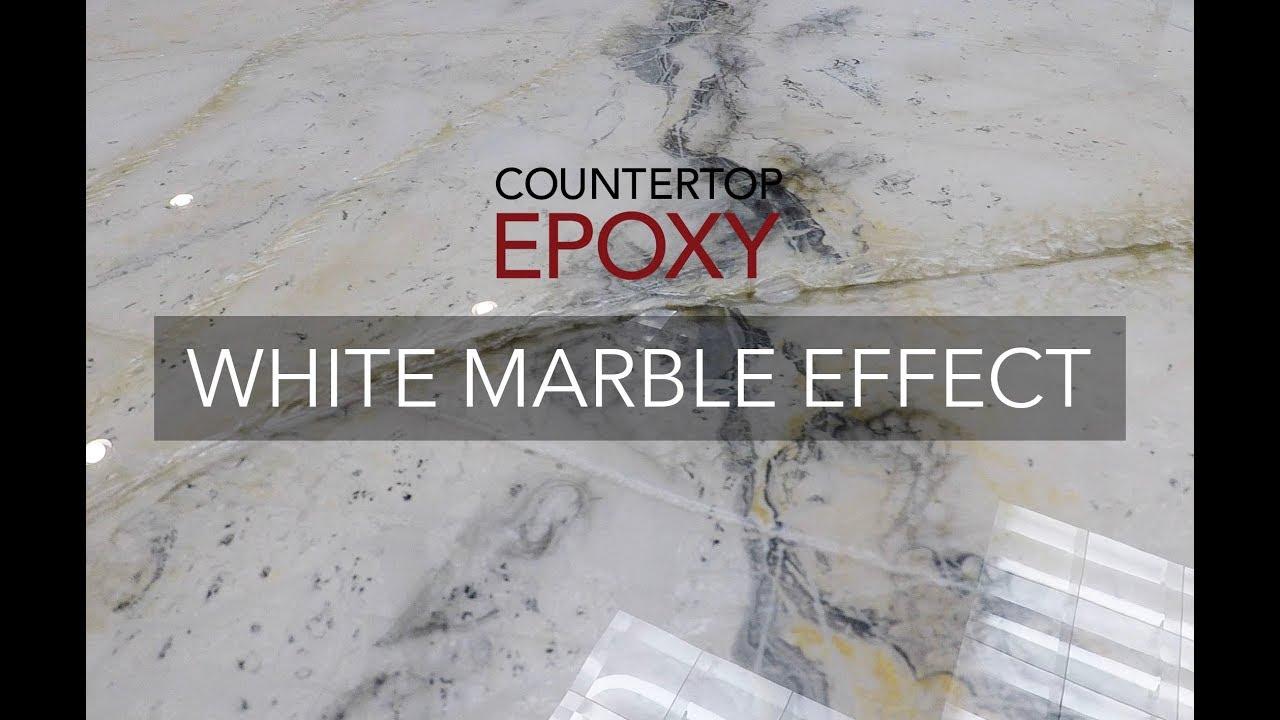 Countertop Epoxy White Marble Effect  YouTube