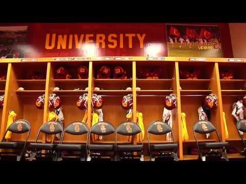 USC Football - Behind The Uniform - Locker Room Set-Up
