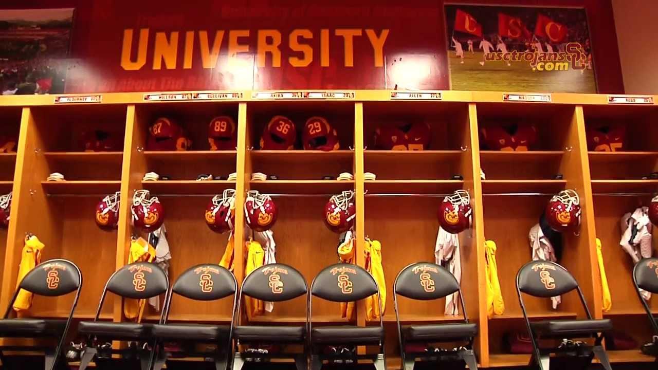 USC Football - Behind The Uniform - Locker Room Set-Up ... Usc Football Team 2013