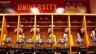 USC Football - Behind The Uniform - Locker Room Set-Up thumbnail