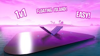 How to Make THE PINK FLOATING ISLAND 1v1 MAP/ARENA IN CREATIVE MODE! (EASY TO MAKE)
