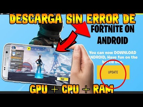 ✔️DESCARGA YA APK MOD DE FORTNITE ANDROID SIN ERROR DE GPU + CPU + RAM PARA MAS DISPOSITIVOS Y MAS