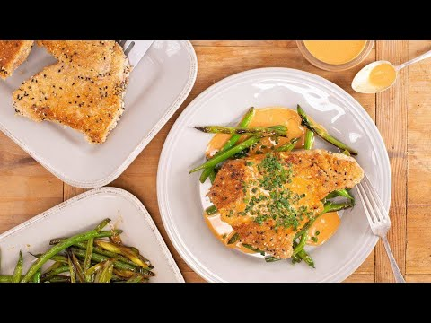 How To Make Japanese Crispy Tuna Steaks With Stir-Fried String Beans By Rachael