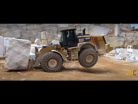 Caterpillar 980M Loader In Hard Work - Marble Quarries