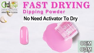 Cute Colors : 5 seconds Quick Dry, Fast Drying Dip Powder Nails System